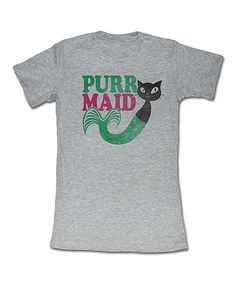 Look at this Gray 'Purrmaid' Tee on #zulily today!