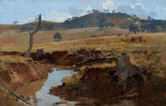 The creek, (1925) by Arthur Streeton :: The Collection :: Art Gallery NSW