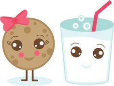 Milk & Cookie SVG.