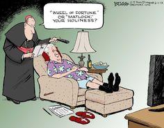 Enjoying retirement. Steve Breen on GoComics.com #humor #Comics #PopeBenedict #Catholic