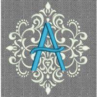 Designs by Juju - Elegant Damask Monogram
