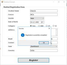 Visual Basic Registration Form