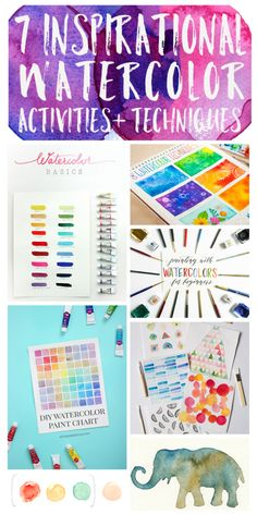 7 Inspirational Watercolor Activities and Techniques – Practice your watercolor skill and dream up new ideas for your next project with these 7 inspirational watercolor activities and techniques! | The Sun Room Blog