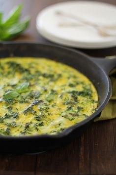 #SexyShredRecipes Zucchini Basil and Kale Frittata   http://www.theroastedroot.net -- Use cage-free, free range, or farm fresh eggs; sea or kosher salt; swap the cheese with one approved for the challenge.