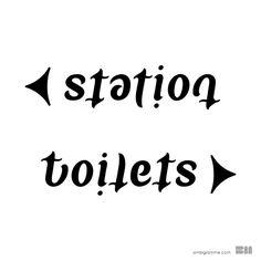 ambigram Station Toilets | Flickr - Photo Sharing!