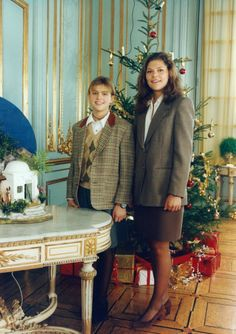 Princess Madeleine of Sweden with her older sister Crown Princess Victoria of Sweden, early 1990s