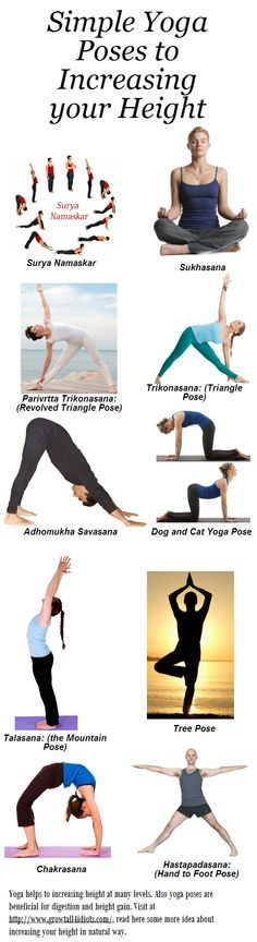 Simple Yoga Poses to Increasing your Height