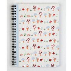 mushroom forest wiro notebook by helen gordon | notonthehighstreet.com