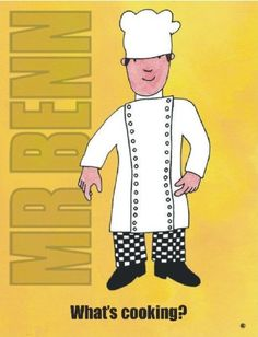 cool S2699 WHAT'S COOKING MR BENN 1970'S 1980'S CARTOON TV SHOW METAL WALL ADVERTISING SIGN PLAQUE