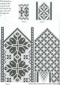 Knitted Mittens Pattern, Crochet Mittens, Fingerless Mittens, Knitted Gloves, Knit Crochet, Knitting Charts, Knitting Stitches, Knitting Socks, Knitting Patterns