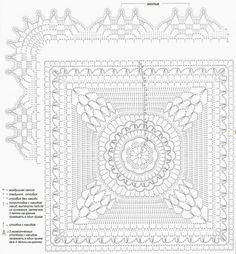 Delicadezas en crochet Gabriela: Manta de hilo de motivos en crochet