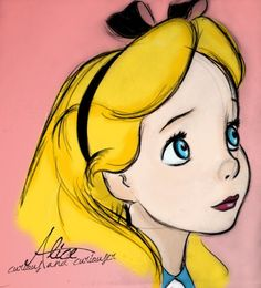 Is that you Alice? Alice in Wonderland. If I had a world of my own, everything would be nonsense. Easy People Drawings, Cartoon Drawings Of People, Disney Drawings, Drawing People, Easy Drawings, Pencil Drawings, Alice In Wonderland Drawings, Alice In Wonderland 1951, Adventures In Wonderland