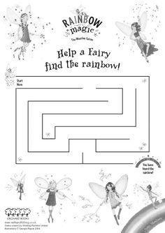 Help a fairy find a rainbow! Fairy Birthday Cake, Magic Birthday, Girl 2nd Birthday, 6th Birthday Parties, Birthday Ideas, Rainbow Fairy Books, Rainbow Magic Fairies, Magic Fairy, Fairy Templates