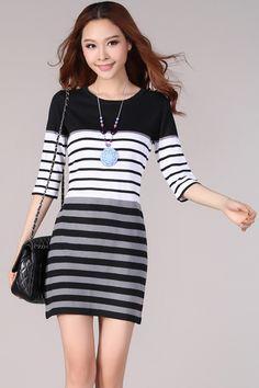 Autumn Fashion Plus Size Sweet Sweater Dress