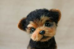 "HOPE MICHEEVA -- ""Puppy York"" -- Dry felting wool. Handmade."