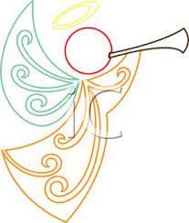 Image result for angel line art