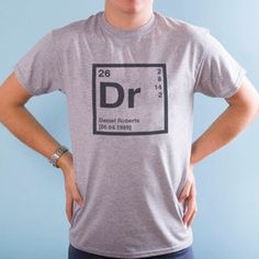 No fear periodic table of elements t shirta t shirt with the personalised periodic table t shirt urtaz Image collections