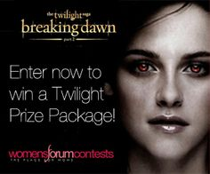 Enter to Win a FREE Breaking Dawn Part 2 Prize Package!! (Over $500 Value!)