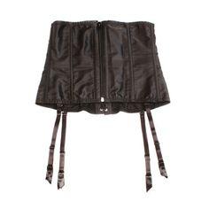 Fredericks-of-Hollywood-Corset-Size-M-Boning-Lace-up-Zipper-Garter-Straps