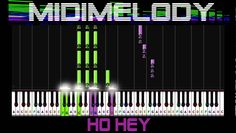 HO HEY by The Lumineers Easy Synthesia Piano Tutorial 100%