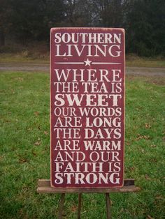 Southern Living Distressed Wood Sign The South by primsnposies