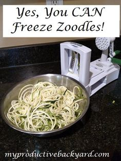 An abundance of zucchini can be frozen for quick easy zoodles later! Yes, you CAN freeze zoodles!