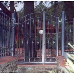 Wrought Iron Pedestrian Gate. Customize Realisations. 068 Gate Design, Pedestrian, Wrought Iron, Outdoor Decor, Home Decor, Decoration Home, Room Decor, Home Interior Design, Home Decoration