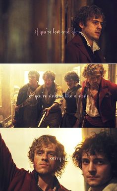 Carry On - Enjolras and Grantaire   FEELS  Credit: Tumblr