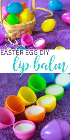 Easter Egg DIY Lip Balm.  A great non-candy Easter Basket Stuffer Idea.  Only 4 natural ingredients!