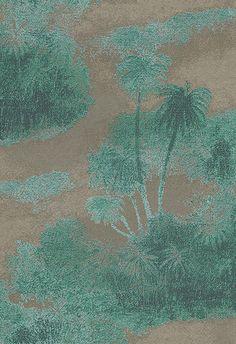 Cocos Peacock/Gilver Wallpaper By Matthew Williamson