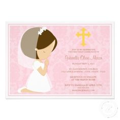 First Holy Communion Invitation Zazzle Invitations Gifts