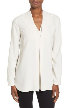 Free shipping and returns on NIC+ZOE 'Minimalist' V-Neck Top (Regular & Petite) at Nordstrom.com. Exuding easy elegance, a woven top features a relaxed cut with a layered V-neckline mirroring an inverted pleat billowing out the front.