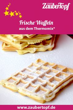 Fresh waffles with crème fraîche - Thermomix Backen - Pancakes Easy Cake Recipes Without Oven, Cake Recipes From Scratch, Easy Cake Recipes, Chip Cookie Recipe, Cookie Recipes, Crema Fresca, Potato Chip Cookies, Chocolate Chip Pancakes, Chocolate Cake