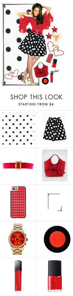 """Feeling dotty!!"" by stephanielee4 on Polyvore featuring Chanel, Kate Spade, Casetify, Michael Kors, L'Oréal Paris and NARS Cosmetics"