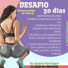 Fitness mulher Fitness Workout programs Fitness trainer Health fitness No e Fitness Workouts, Fitness Motivation, At Home Workouts, Lose Weight, Weight Loss, Health And Fitness Tips, No Equipment Workout, Workout Programs, Personal Trainer