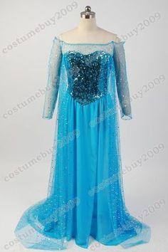 Disney Frozen Snow Queen Elsa Fancy Dress Costume   eBay