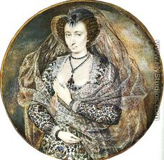 An Unidentified Lady  1605 - Isaac Oliver