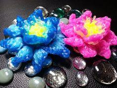 Rainbow Loom 3d Lotus Flower - YouTube