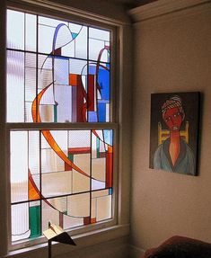 colorful art glass windows