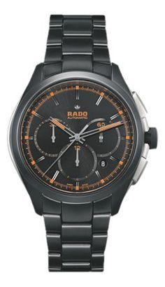 a555d490c24d Rado Hyperchrome Automatic Chronograph Black Dial Black Ceramic Mens Watch  R32525162