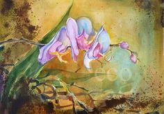 15x11 inch ORCHIDS Archival Print from Original by EcoProduct,