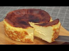 Basque Burnt Cheesecake [Super Creamy & Easy] - YouTube