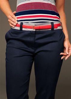 Navy Ladies Golf Pants