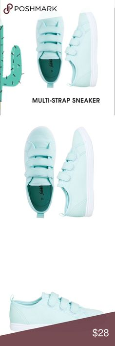 HP🎉 NWT. Kids size 4 triple strap blue sneaker HP🎉 NWT. Kids size 4 triple strap teal blue sneaker. Cotton canvas material. About 1/2 inch platform. Comes in the original box. True to size. Sorry, no trades. Shoes Sneakers