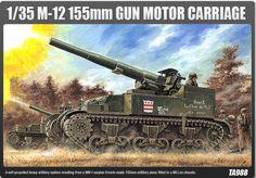 Maquette - Maquette M-12 155mm GUN MOTOR CARRIAGE – ACADEMY 1394