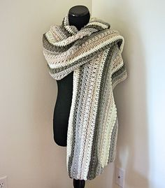 So warm and cozy, this super scarf drapes beautifully and is big enough to wear in many different ways! The next free crochet pattern in my Autumn Chill series.