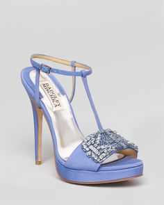 Badgley Mischka Platform Evening Sandals - Amara High Heel | Bloomingdale's