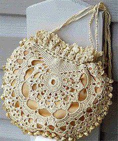 Hmmmm? Must try with very fine plarn! crochet bag