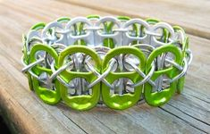 DIY Bacelets: from recycled soda can pop tabs