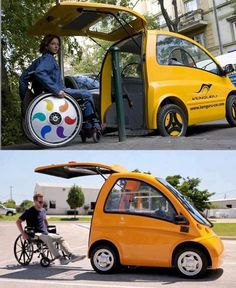 """""""Powered by electricity, this car is specially designed for paralyzed individuals.""""  Seems like a pretty nifty idea to me!"""